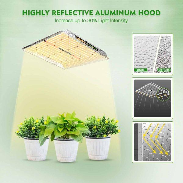 Mars Hydro TS1000 led grow light reflective aluminum